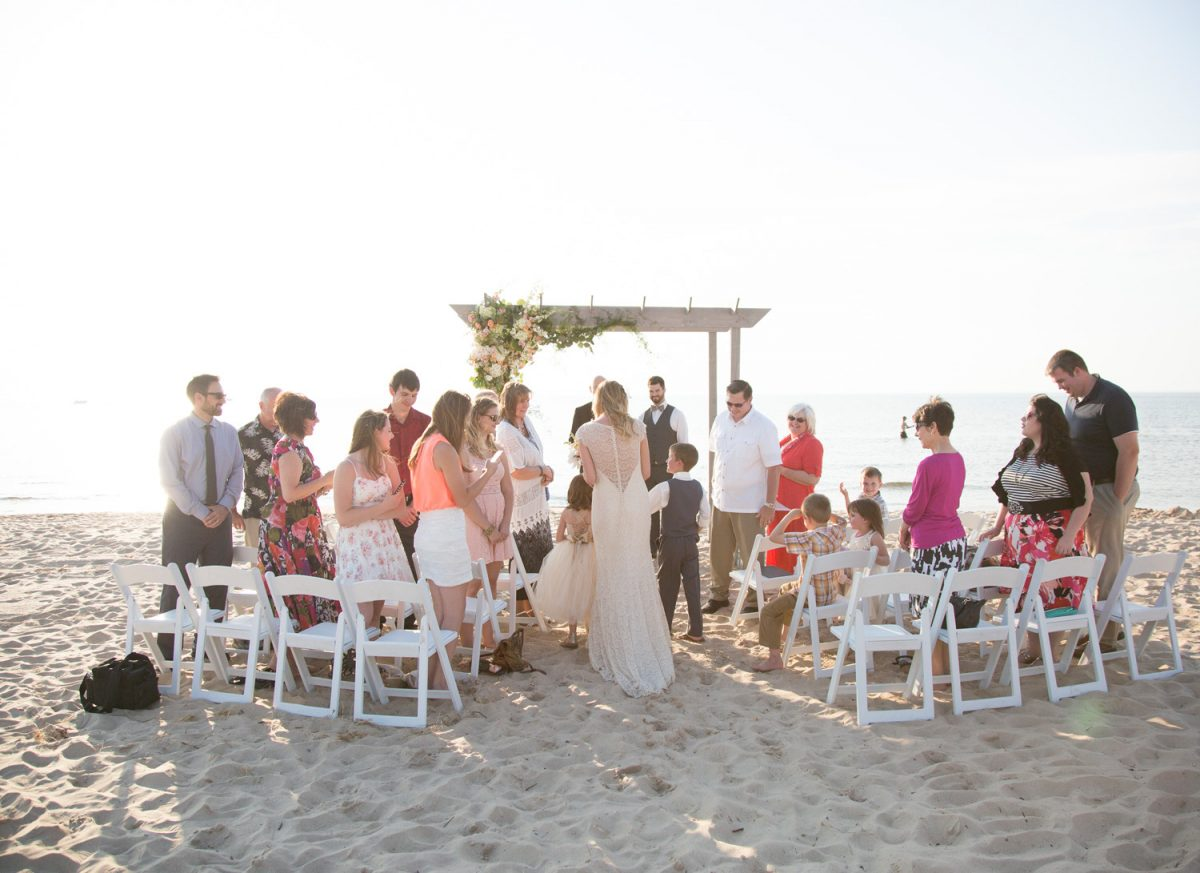 Intimate Wedding In St Joseph Michigan With About 25 30 Guests Their Ceremony Was Directly On Tiscornia Beach At Sunset And Followed By A Family